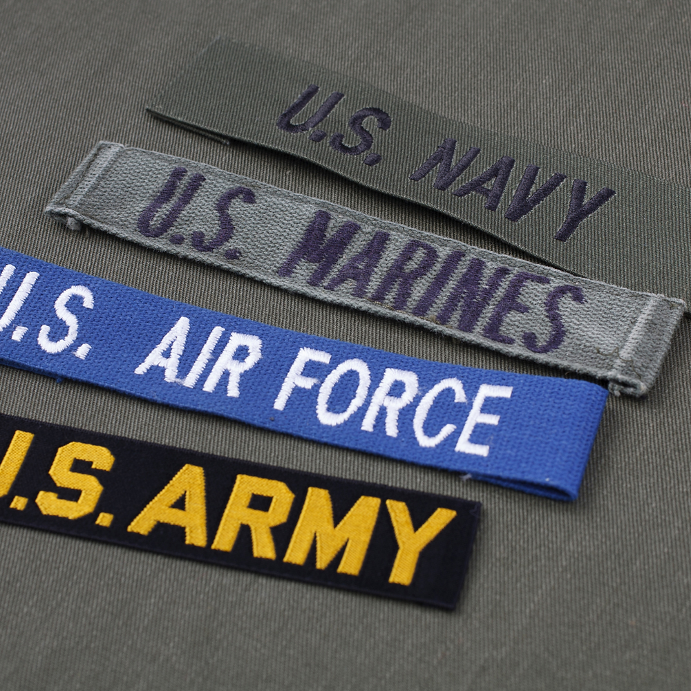 uniform lapel patches for US Armed Forces