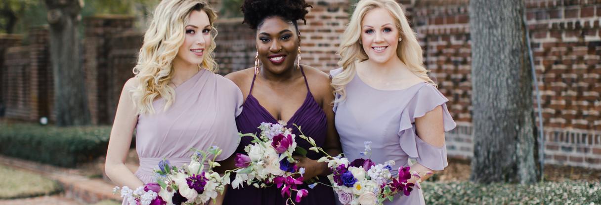 Various Mori Lee bridesmaids dresses