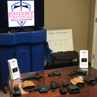 Concealed Carry Course display