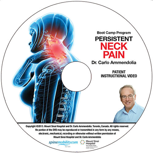 Persistent Neck Pain Boot Camp Program Patient DVD (Includes 5)