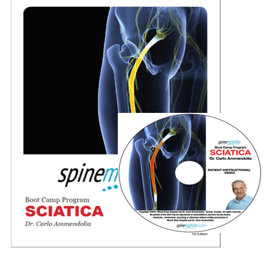 Sciatica Boot Camp Program Patient Workbook and DVD for Patients