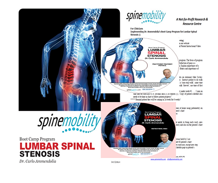 Lumbar Spinal Stenosis Boot Camp Program Basic Starter Kit for Practitioners