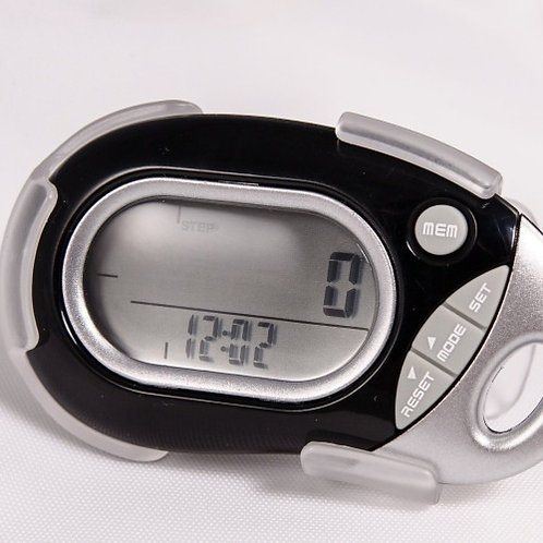 Pedusa PE-771 Tri-Axis Multi-Function Pocket Pedometer (Black, Holster/Belt)