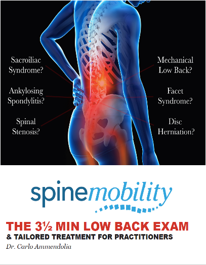 The 3 1/2 Min Low Back Exam For Practitioners - Workbook and DVD