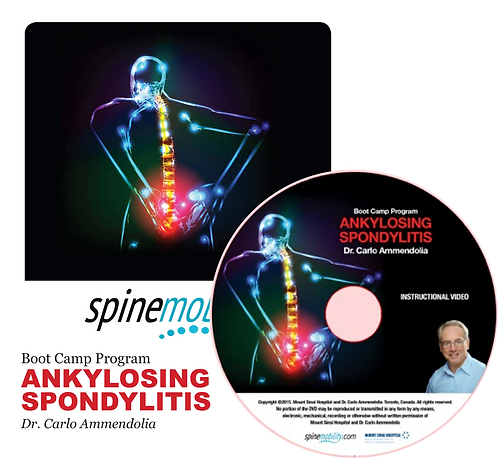 Ankylosing Spondylitis Boot Camp Program Patient Workbook & DVD for Patients