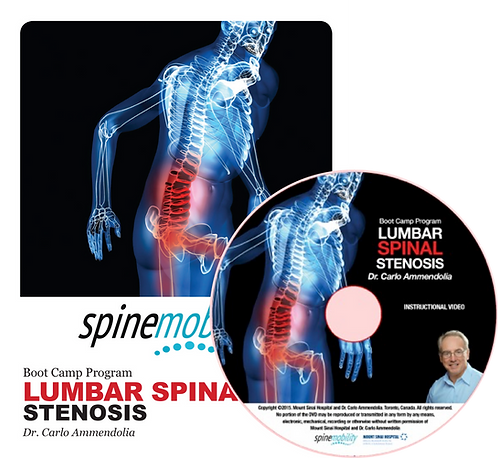 Lumbar Spinal Stenosis Boot Camp Program Patient Workbook & DVD for Patients
