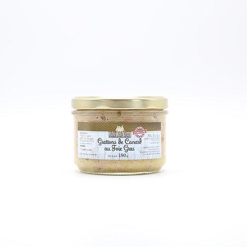 Grattons van eend met foie gras