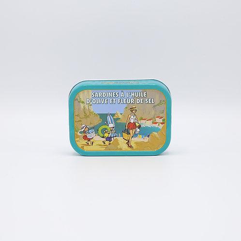 Sardines olijfolie + fleur de sel 115 g