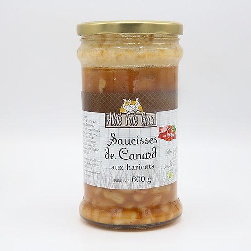 Saucisses de canard aux haricots 600 g