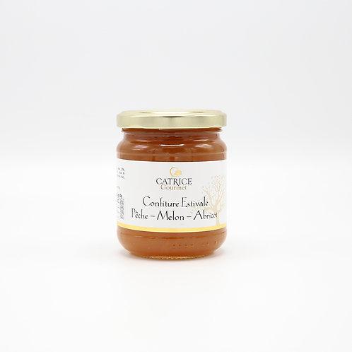 Confituur perzik-meloen-abrikoos 250 g