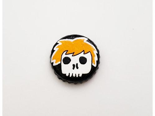 Orange Skull Boy O'button