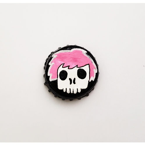 Pink Skull Boy O'button