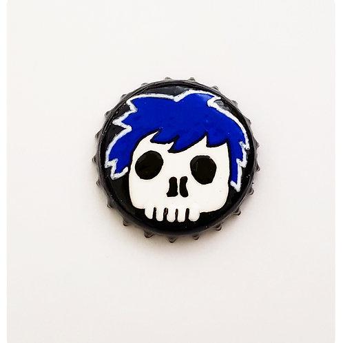 Blue Skull Boy O'button