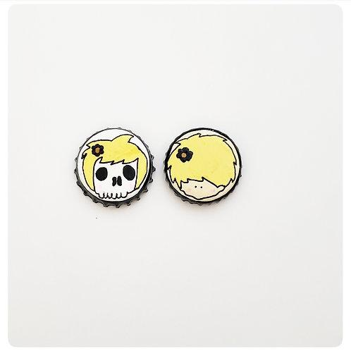 Yellow Skull Girl VS Agape Girl O'button Set