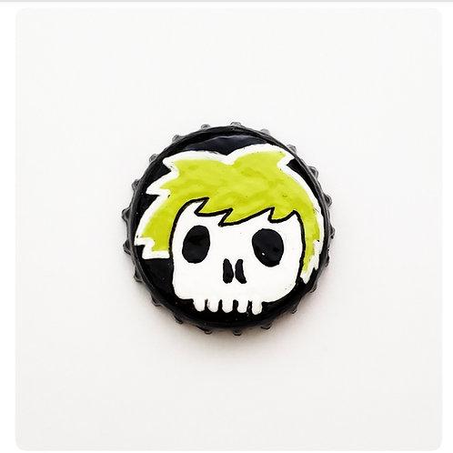 Green Skull Boy O'button