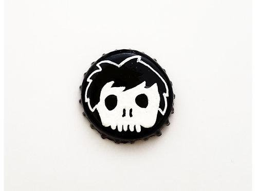 Black Skull Boy O'button