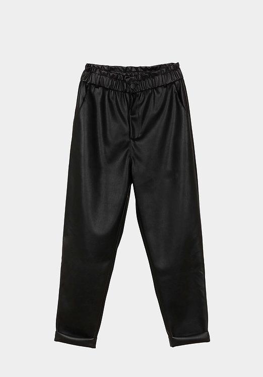 Pantaloni pelle arricciato