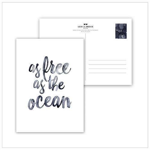 Cartolina - AS FREE AS THE OCEAN