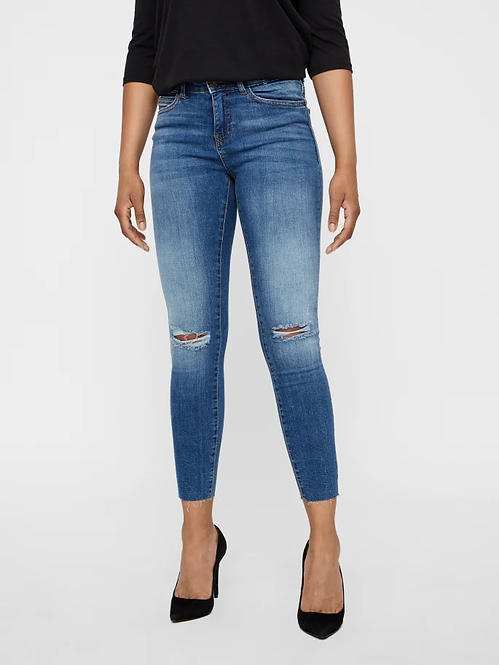 Jeans vita media Lucy doppie rotture