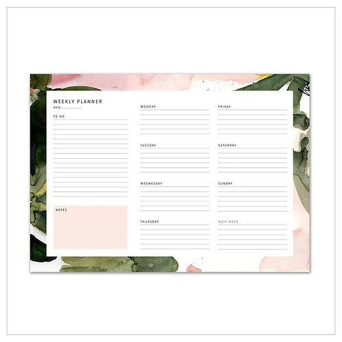Weekly Planner - Floral Colours No.2 - A4