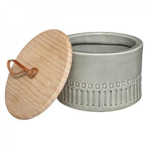 Barattolo in ceramica grigio