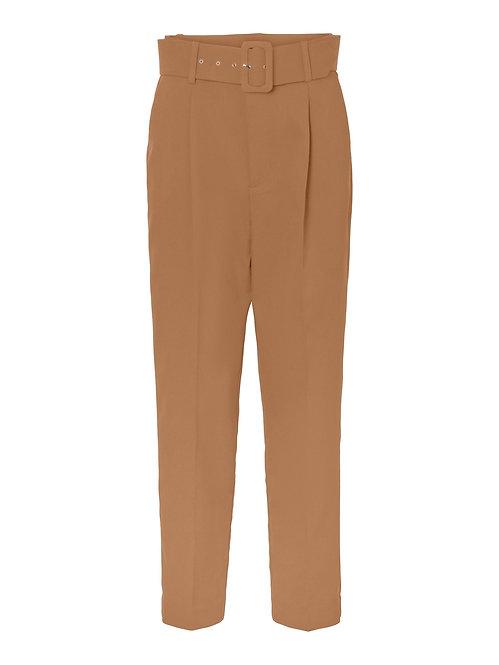 Pantalone con cintura Tabacco