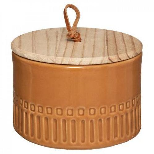 Barattolo in ceramica terracotta