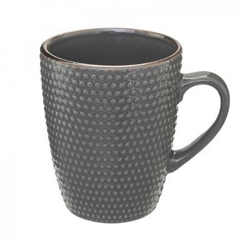 Tazza Mug grigio bordo oro