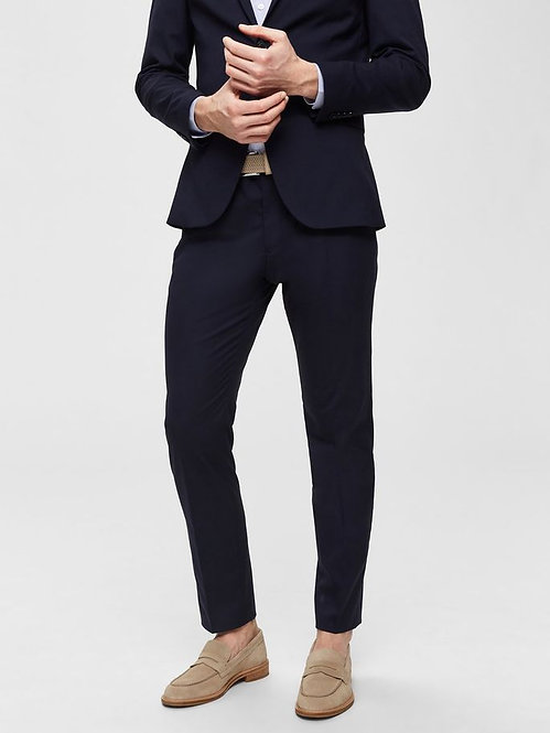 Pantalone blu navy slim fit