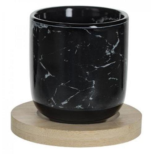 Set 4 Tazze Marmo nero