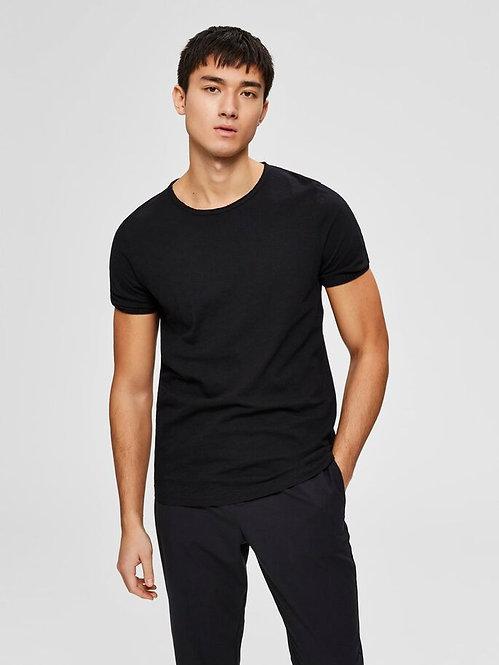 T-shirt taglio vivo nera