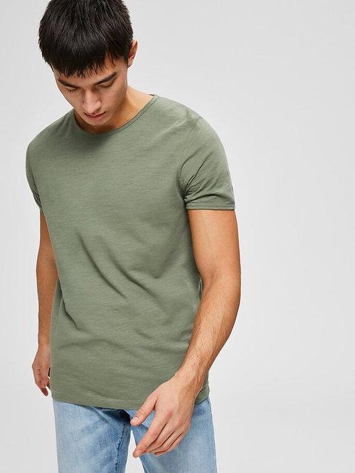 T-shirt taglio vivo verde Morgan