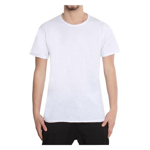 T-shirt taglio vivo basica 2 colori