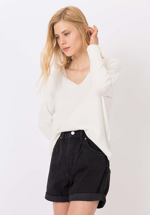 Maglione a v bianco