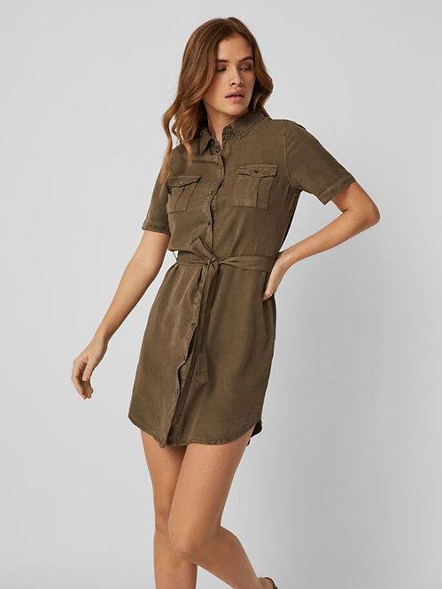 Vestito Camicia Militare Silja
