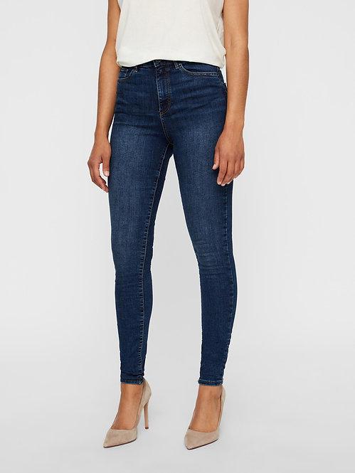 Jeans Sophia Vita alta D.blu