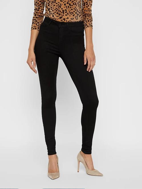 Jeans Vita Alta Callie Nero