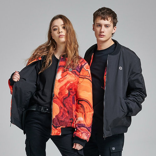 Arcade Reversible Bomber Dolly Noire