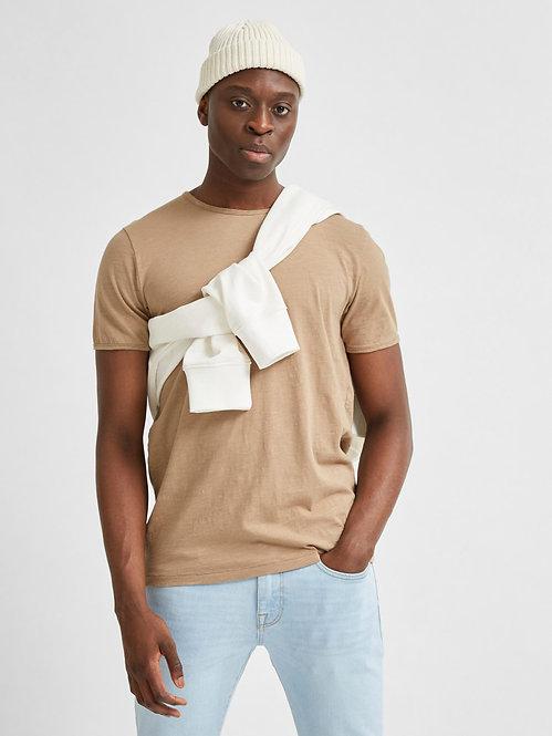 T-shirt taglio vivo beige Morgan