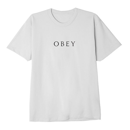 T-shirt NOVEL OBEY CLASSIC bianco
