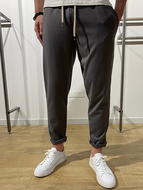 Pantalone con corda antracite
