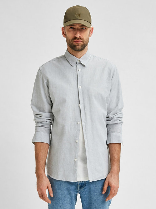 Camicia Lino e Cotone Organico Righe