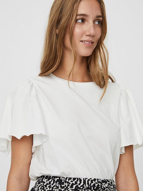 T-shirt manica balze 2 colori