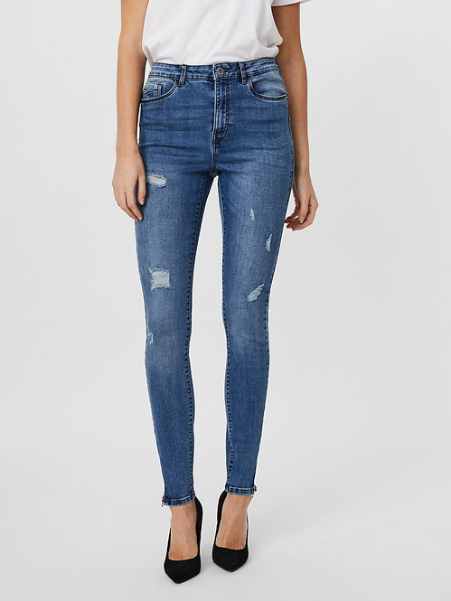 Jeans  Sophia Vita alta Zip