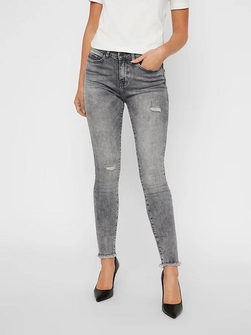 Jeans vita media Lucy grigio
