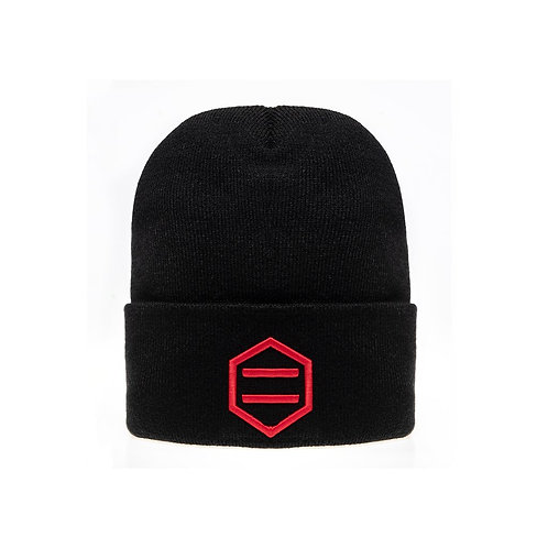 Beanie Black&red