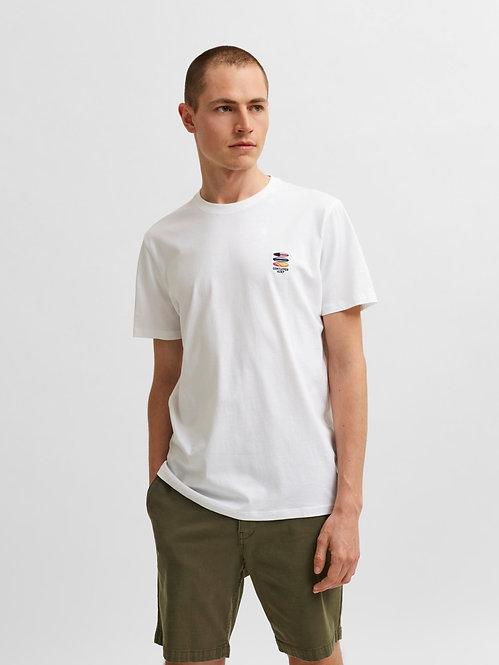 T-shirt Fate ricamo Bianca