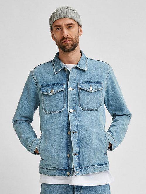 Giacca in jeans 100% cotone riciclato
