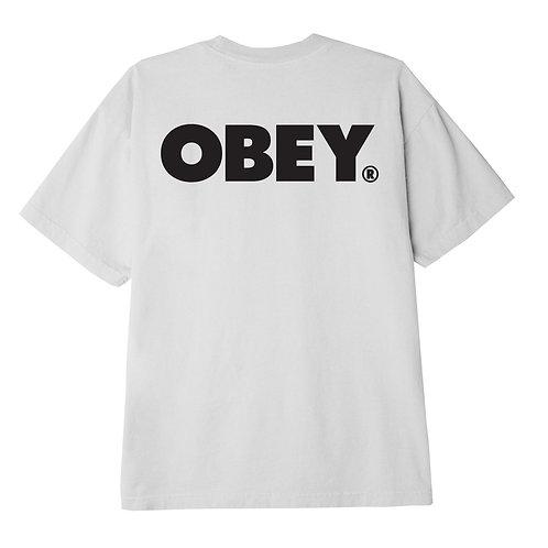 T-shirt  OBEY Bold bianco