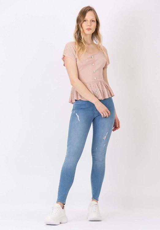 Jeans Lauren Vita alta